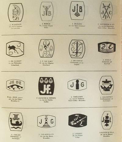 book livre boek r pertoire des poin ons signatures de orf vres bijoutiers horlogers de belgique. Black Bedroom Furniture Sets. Home Design Ideas